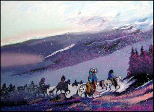 Blizzard Along the Beartooth Range